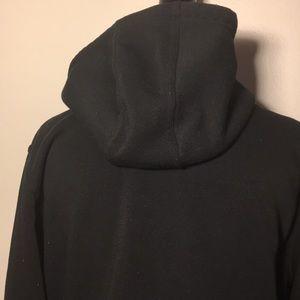 PJ MARK Tops - Unisex black long pull over hoodie w zip up sides.